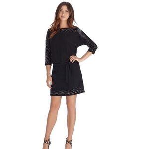 WHBM Dolman Sleeve Embellished Blouson Dress